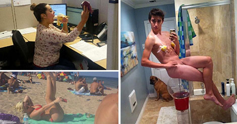 15 Selfies That Aren't Subtle At All
