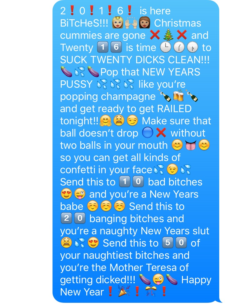 Sexual emoji chain messages