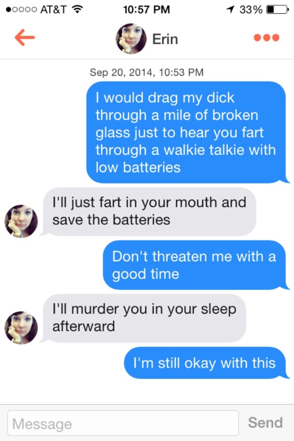 These 19 Texts Prove Tinder Is Where Bad Pickup Lines Go To Die Page 6 Of 6