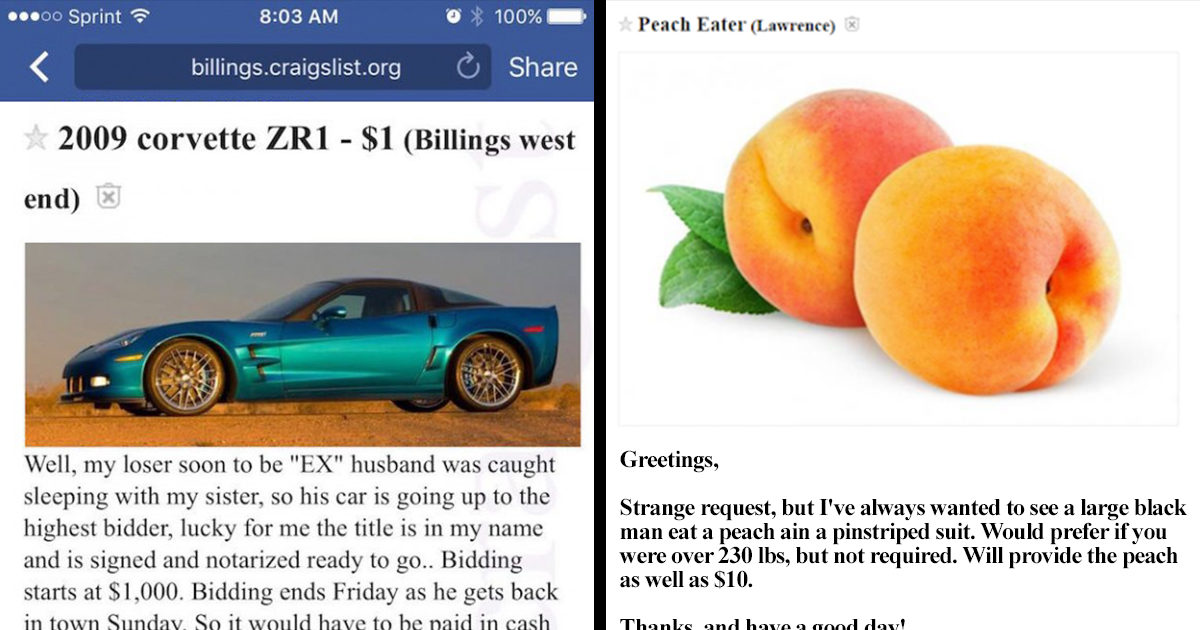 15 Craigslist Ads That Will Make You Lose Your Faith in Humanity