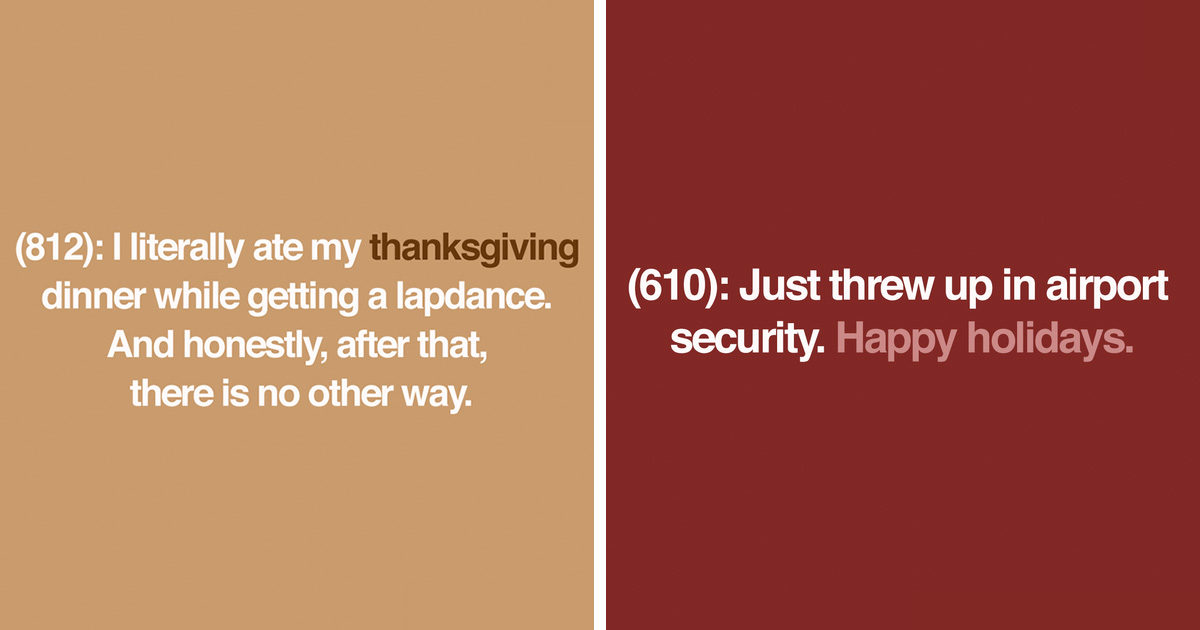 These Are The 27 Raunchiest Texts From Last Night About Thanksgiving