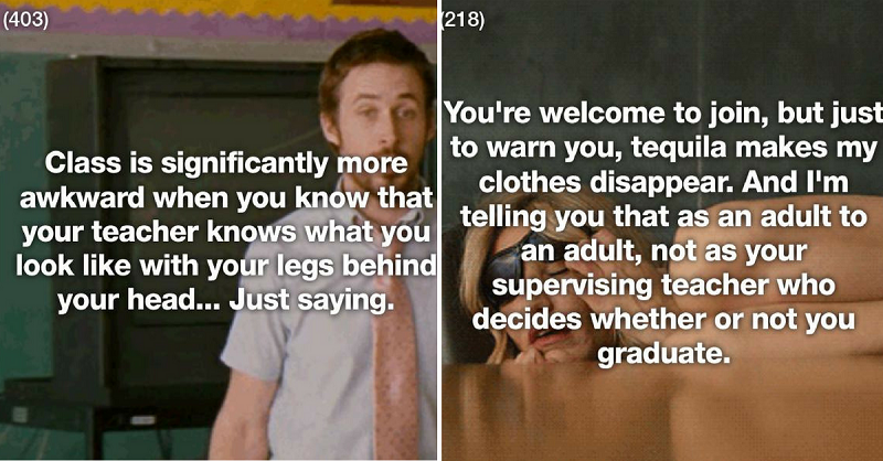17 Horny Students Who Hooked Up With A Teacher