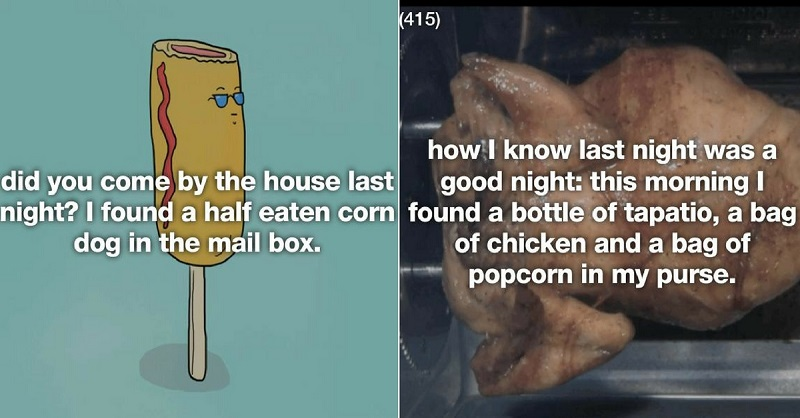 37 Strangest Places Drunk People Found Food The Morning After
