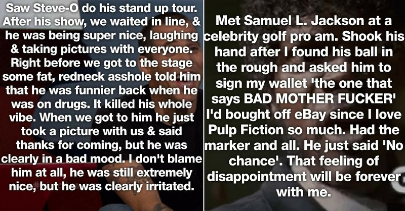 27 Of The Most Depressing Celebrity Encounters