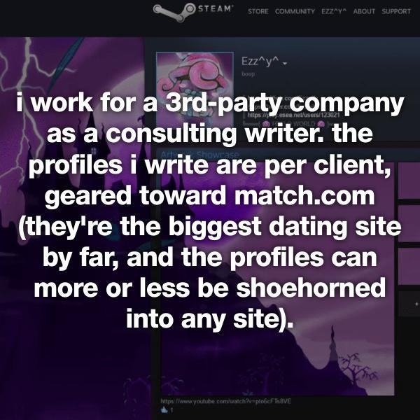Free online dating profile writer