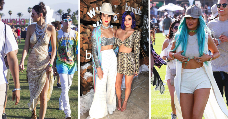 Kendall & Kylie Jenner's Best Coachella Fashion Moments