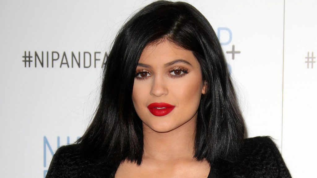 Kylie Jenner Red Lipstick Wallpaper 5618
