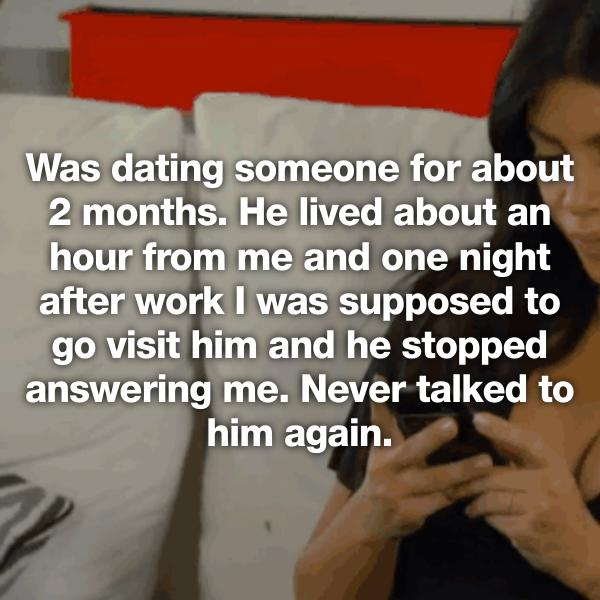 Ghosted after dating for months