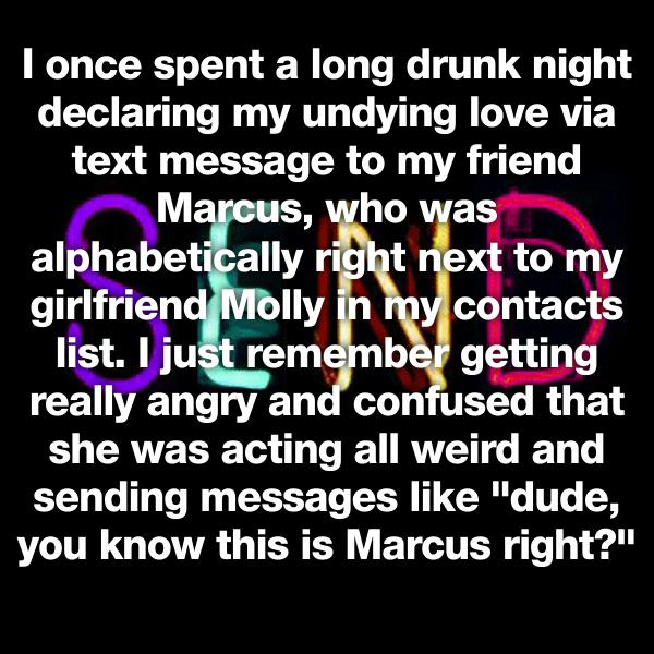 what to text your girlfriend at night