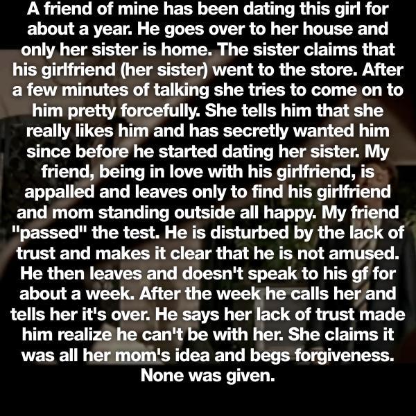 Untrustworthy girlfriend