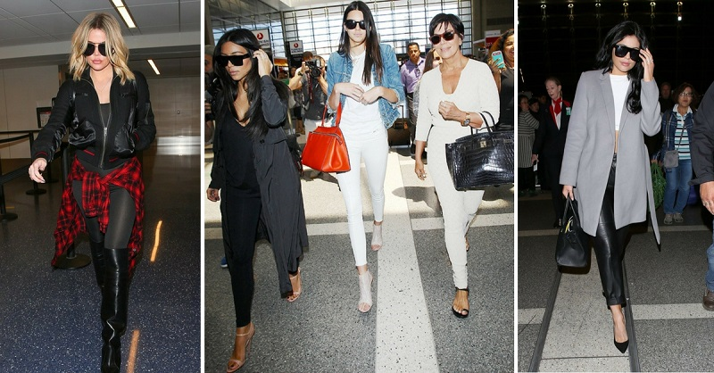 Proof The Kardashians Are The Masters of Airport Fashion