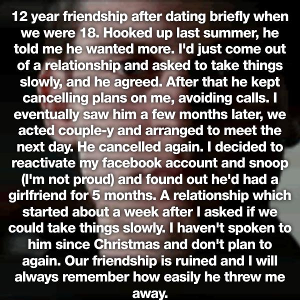 dating someone your best friend slept with Now you can do the things you've always done as friends and things people do as  your best friend's probably seen you in your sweats with  relationships dating sex.