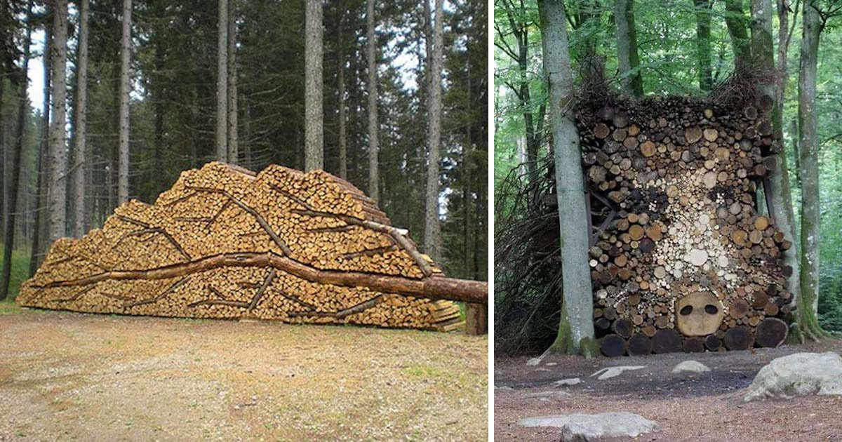 Who Ever Knew Firewood Stacking Was So Interesting? (25 pictures)