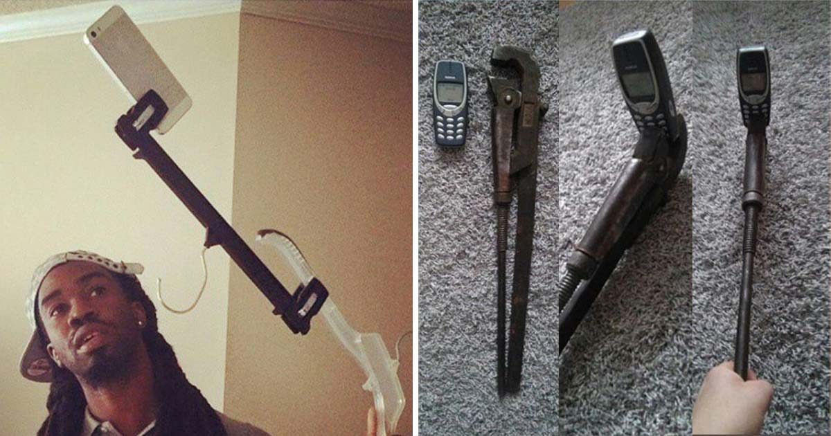 Horrible DIY Selfie Sticks are a Real Thing