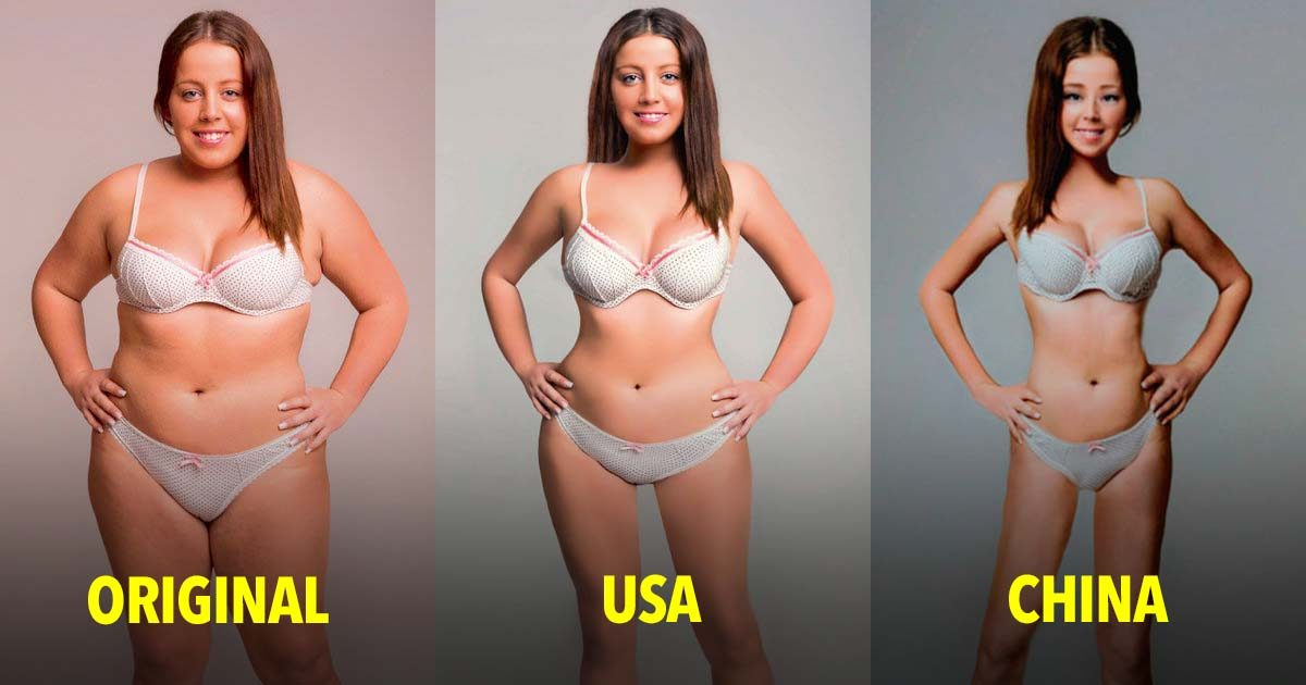 This Woman's Body Was Photoshopped To Show The Ridiculous Standards Of Beauty For 18 Countries