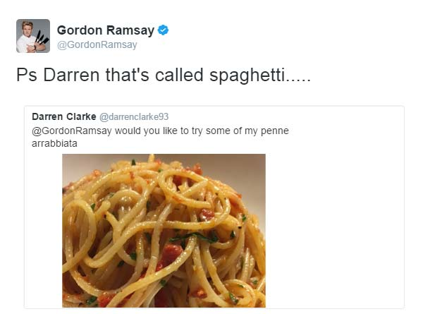 gordon ramsay had the most savage responses to peoples