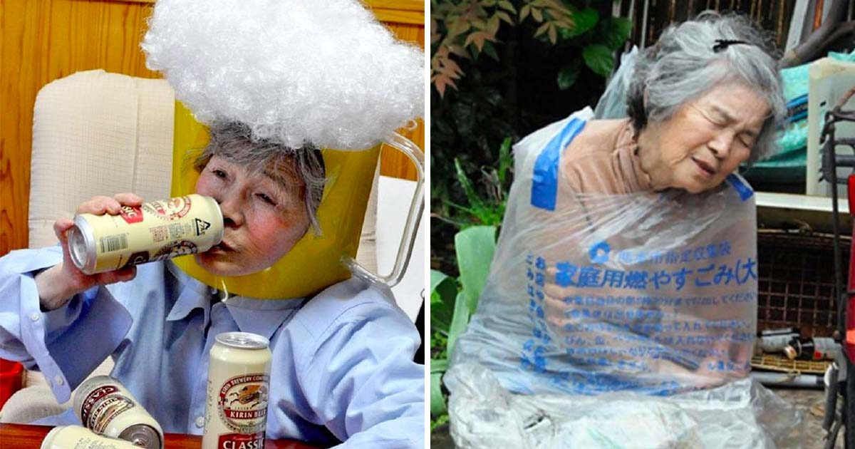 Japanese Grandma Can't Stop Taking Hilarious Self-Portraits