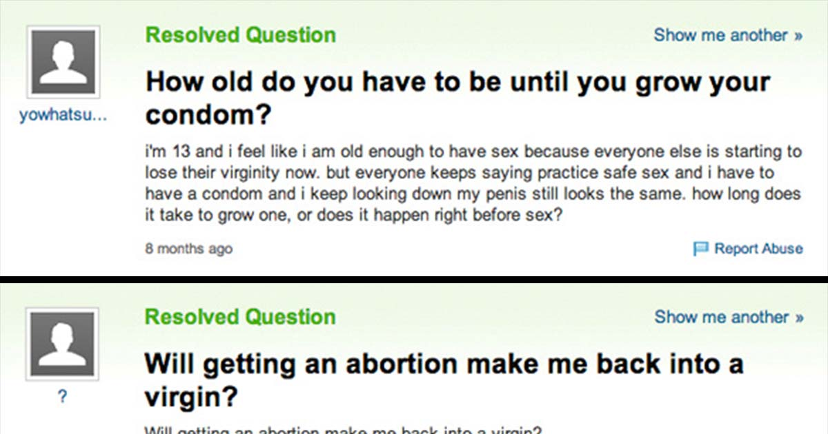 Girl sex questions on sex girls