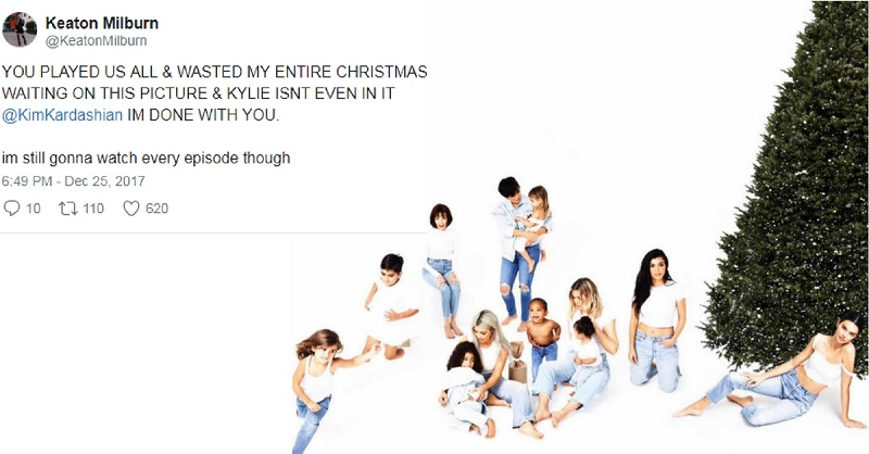 Kylie Jenner Wasn't in the Kardashian X-Mas Cards & the Internet is Losing it