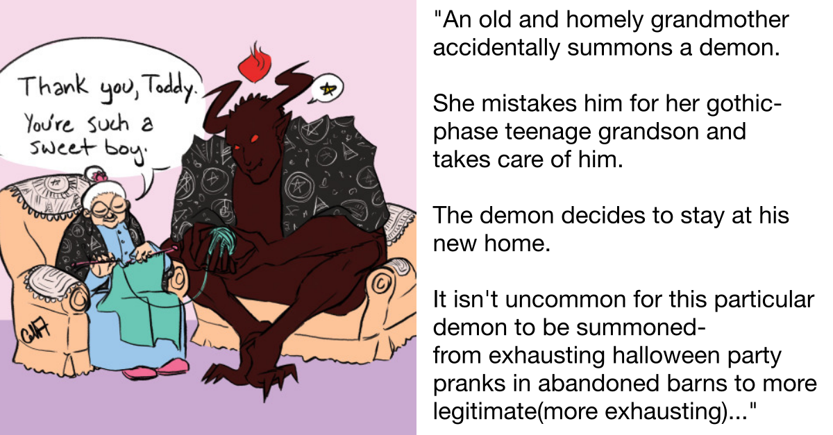 Tumblr User Tells Story About A 'Demon Gets Adopted By A Grandma' & It Needs To Be A F**king Movie