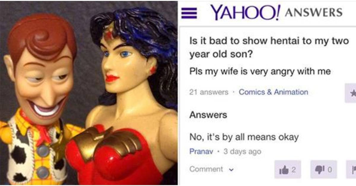 30+ Yahoo Answers That'll Leave You At A Loss For Words