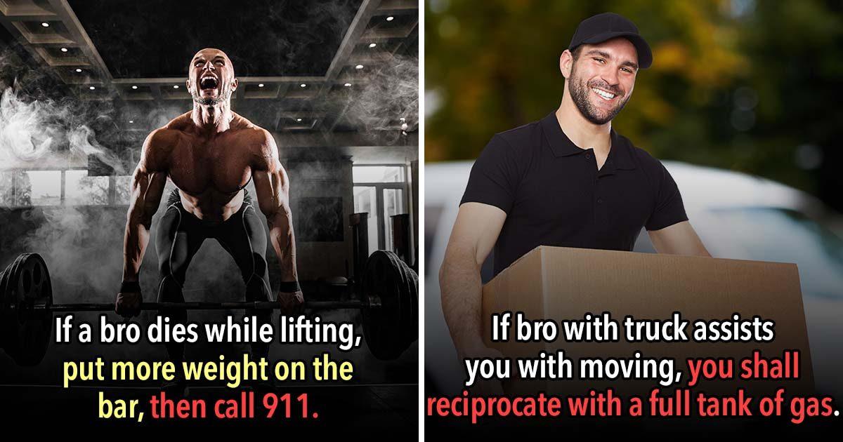 """29 Unspoken Rules Of """"Bro Code"""""""
