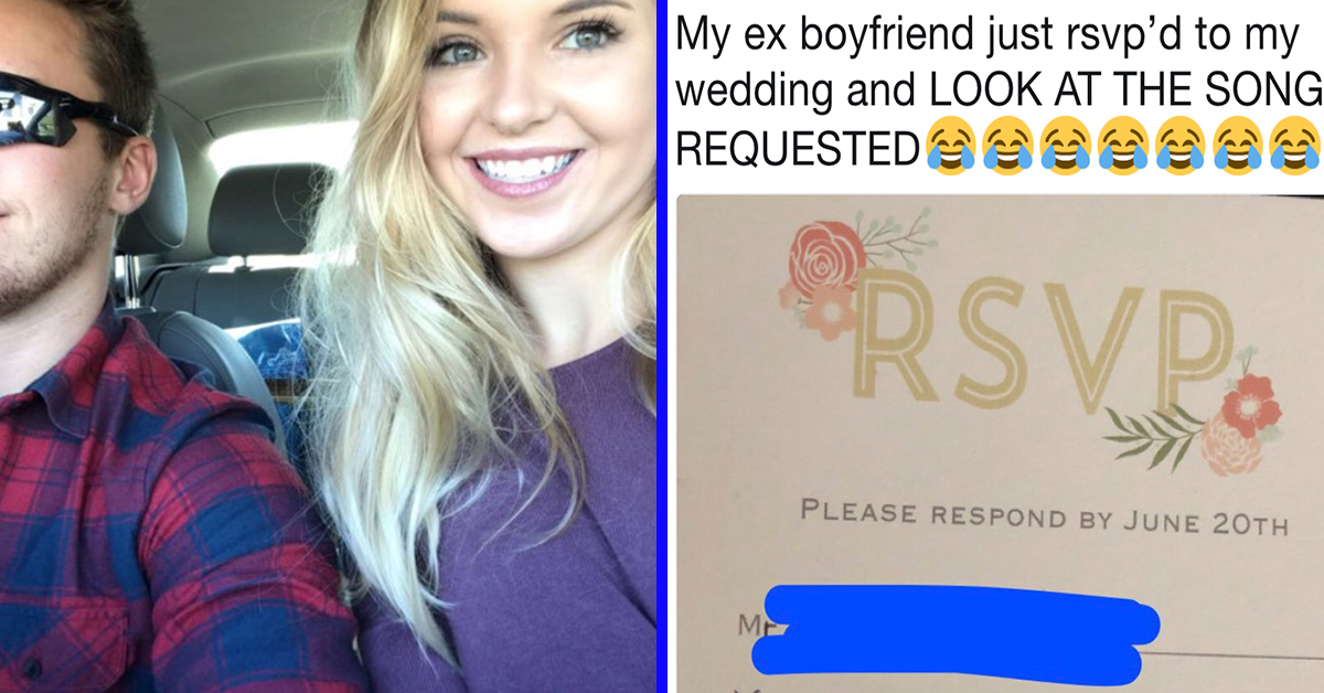 This Girl Invited Her Ex-Boyfriend To Her Wedding And His RSVP Takes Petty To A Whole New Level