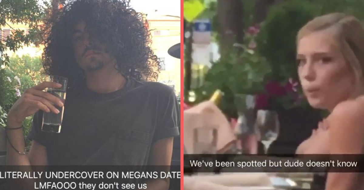 Girl's Best Friends Crashed Her First Date In Disguise And She Couldn't Keep A Straight Face