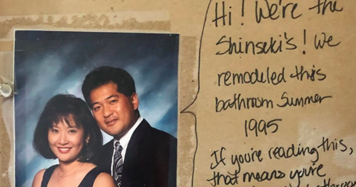 A Couple Remodeling Their Bathroom Found A Hilariously Savage Hidden Note From The Former Owners