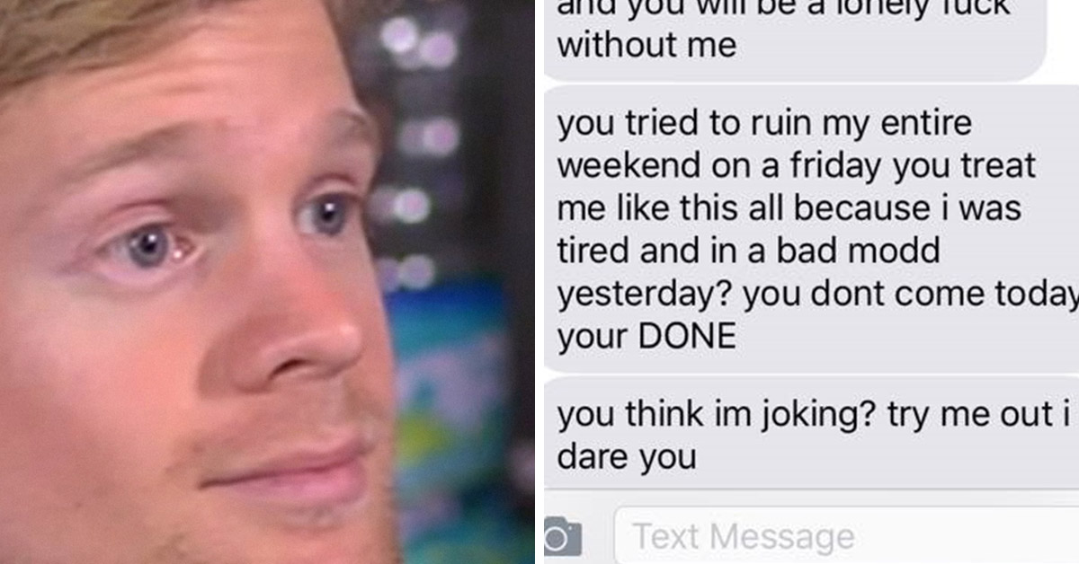 'Nice Girl' Goes On Psychotic Text Rant After Her Date Said He Was Running Late