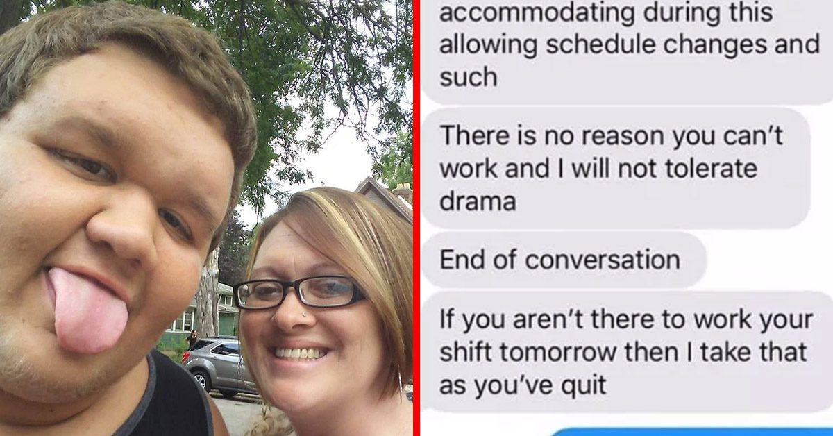Manager Shames Mom Who Called Out Of Work Because Her Son Is On Life Support