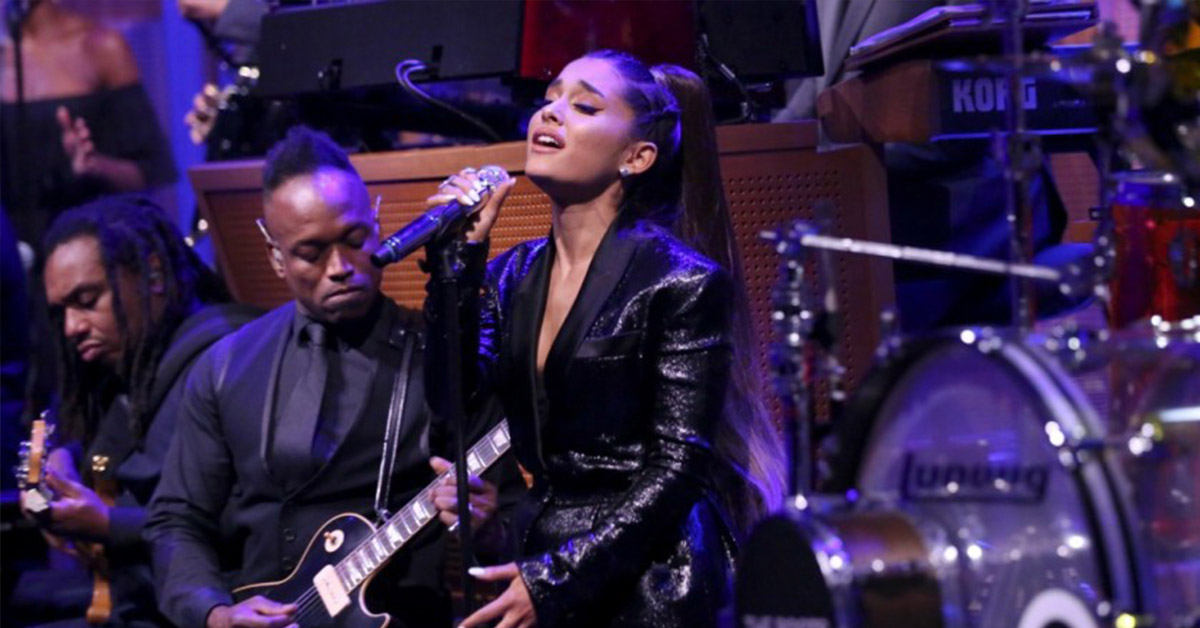 Ariana Grande's Tribute To Aretha Franklin Was So Emotional, It Brought Her To Tears