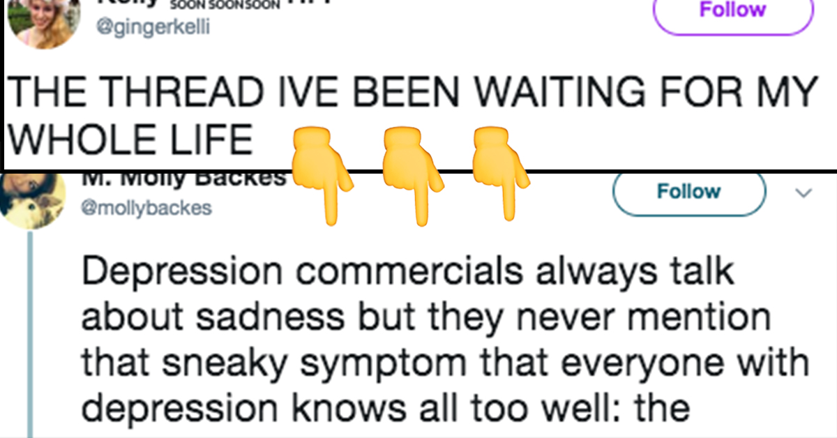 This Woman's Viral Thread Notes A Never-Discussed Symptom Of Depression And Absolutely Everyone Needs To Read This