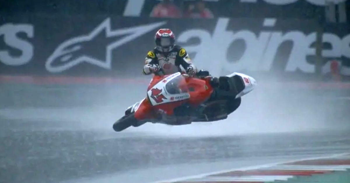 Watch This Motorcycle Racer Transform Into A Surfer During A Crash