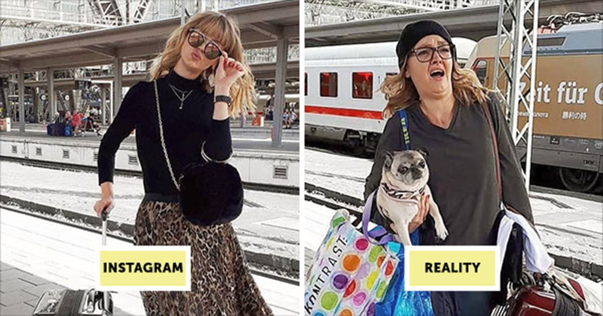 Artist Shows How Fake Instagram Influencers Really Are With Hilarious Photo Series