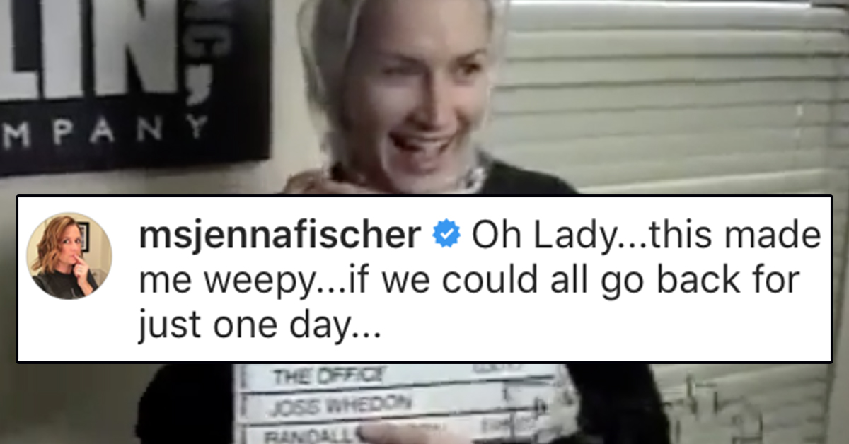 This Never-Before-Seen Footage Angela Shared From 'The Office' Set Has Me (And Pam Beesley) All Weepy