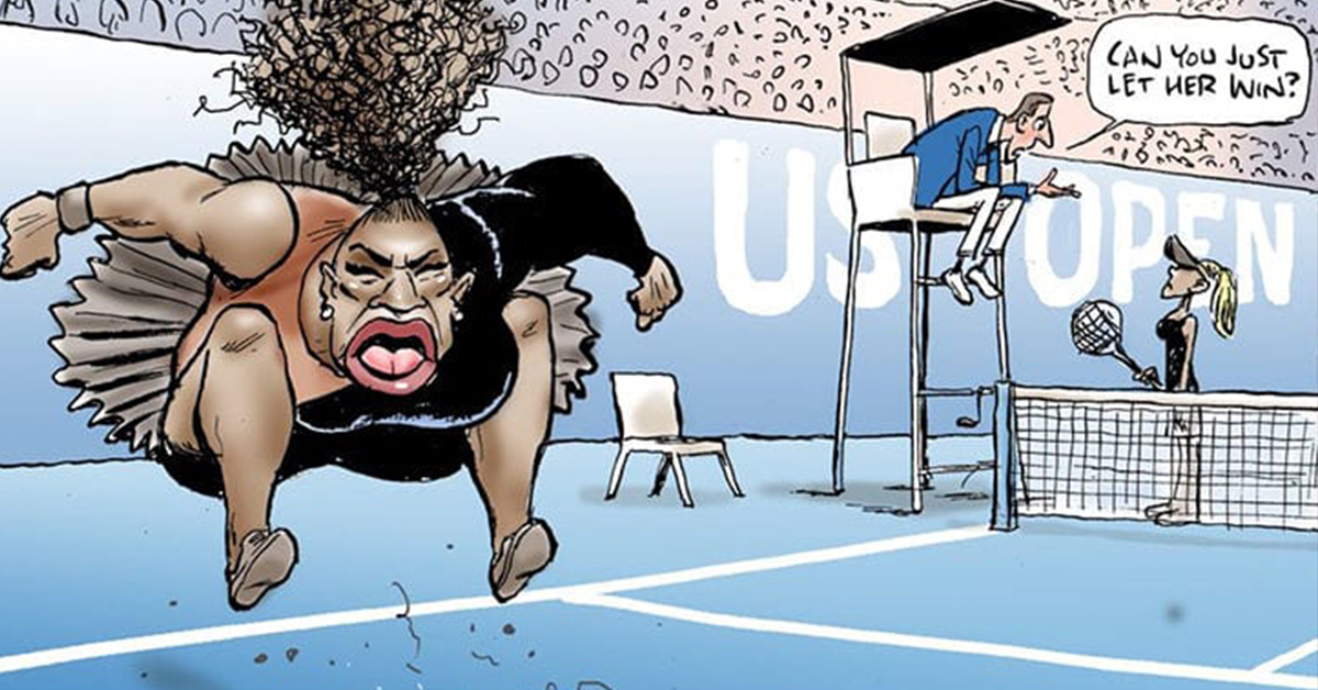 J.K. Rowling And Thousands Of Others Blast Wildly Racist Serena Williams Newspaper Cartoon