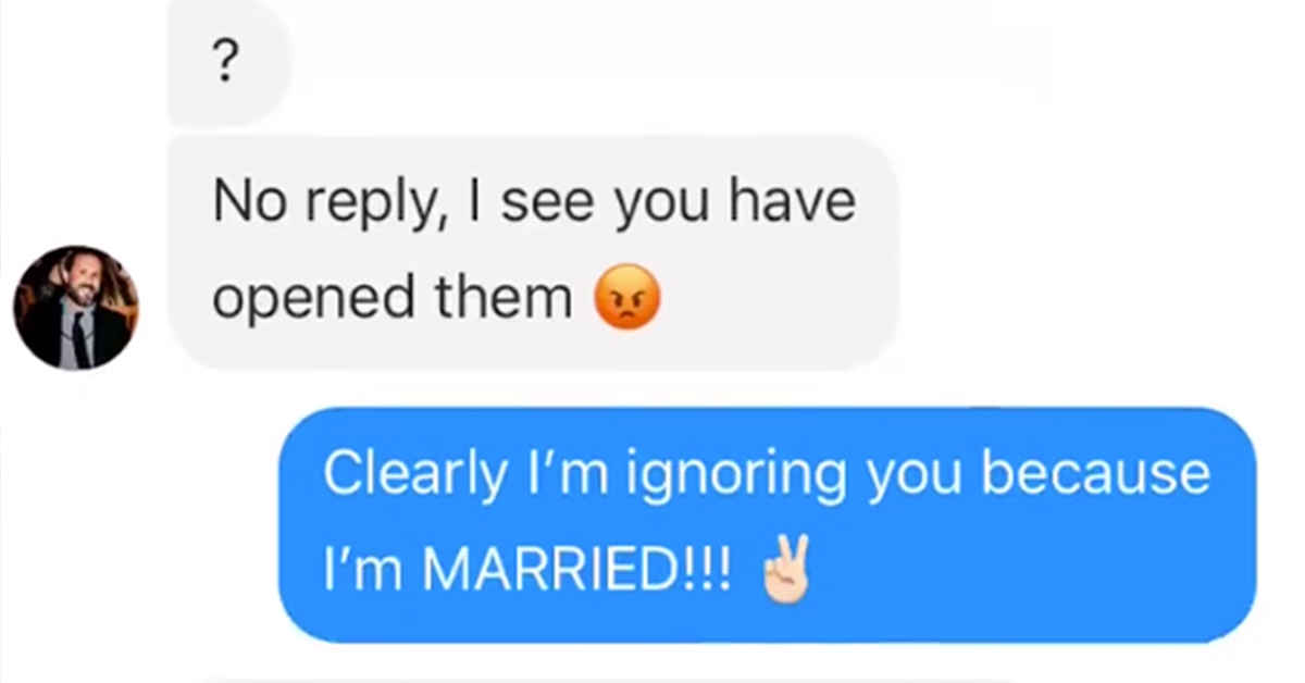 Couple Savagely Trolls Persistent Dude Sliding Into Wife's Messages