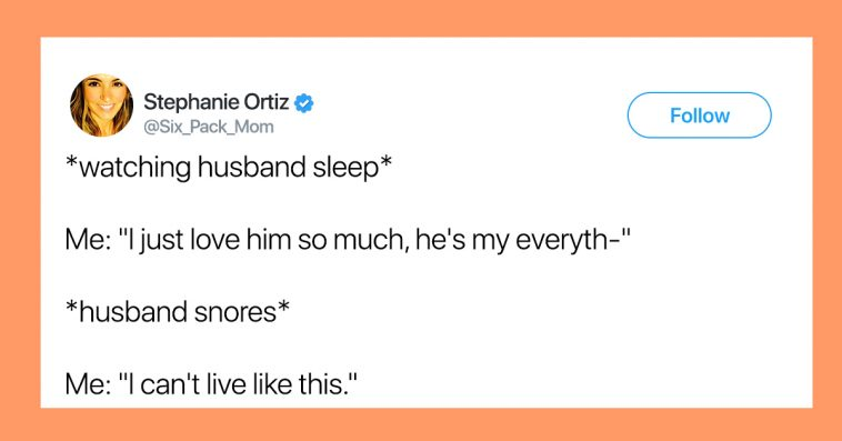 my husband snores and i can t sleep