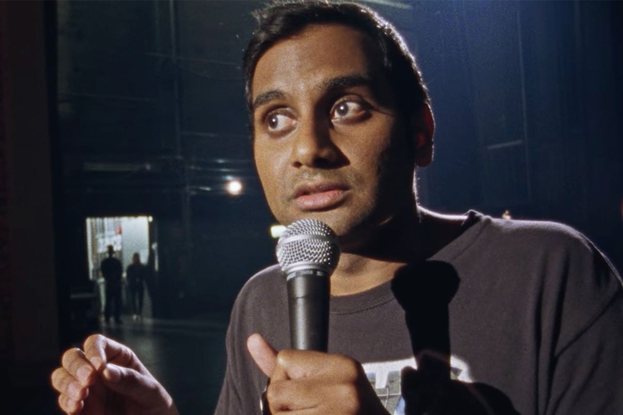 Aziz Ansari performing